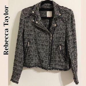 Rebecca Taylor Exclusive Tweed Moto Jacket